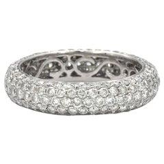 2.38 Carat Diamond Band Ring in 18 Karat White Gold