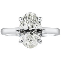 2.38 Carat Oval Cut Diamond Solitaire Engagement Ring