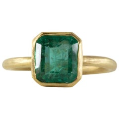 2.39 Carat Emerald 22 Karat Gold Ring