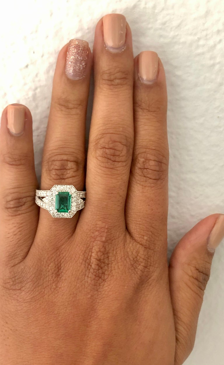 2.39 Carat Emerald Diamond 18 Karat White Gold Ring GIA Certified In New Condition For Sale In San Dimas, CA