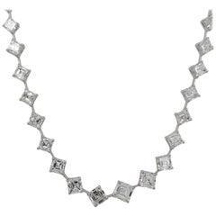 23.97 Carat Asscher Cut Diamond Necklace