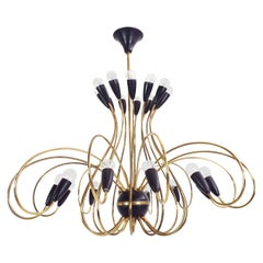 24 Arms 1950 Italian Design Chandelier