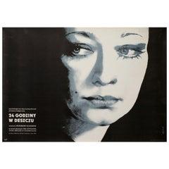 """24 Chasa Dazhd"", 1982 Polish B1 Film Poster"