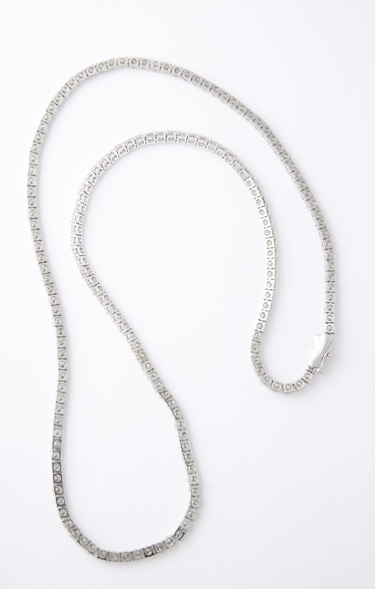 Diamond Tennis Necklace For Sale 1
