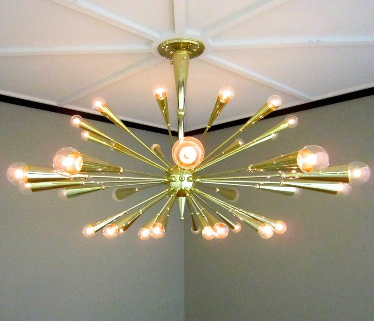 American 24-Karat Gold Monumental Sputnik Chandelier For Sale