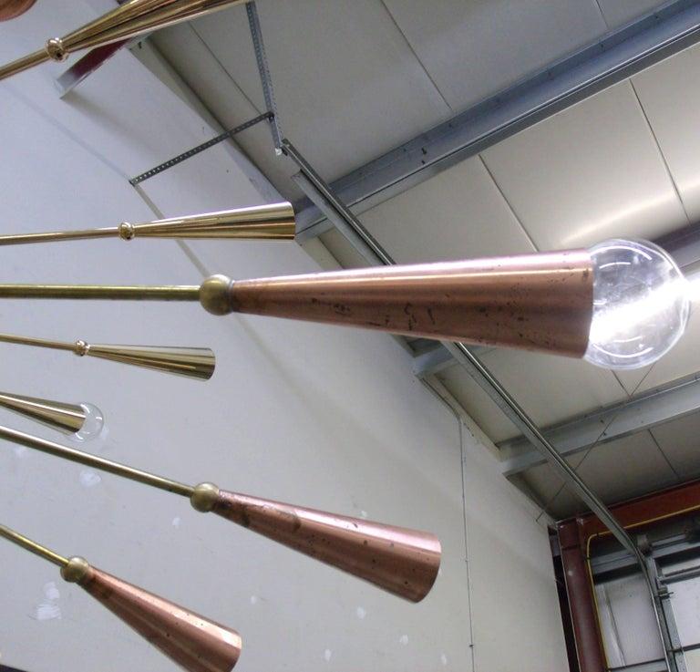 24-Karat Gold Monumental Sputnik Chandelier For Sale 2