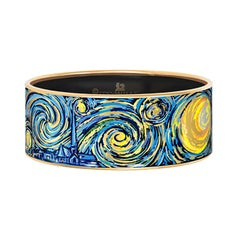 Cuff by Frey Wille 24kt gold plated enamel -  Hommage to Van Gogh