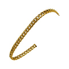 24 Karat Pure Yellow Gold Solid Ladies Curb Link Bracelet