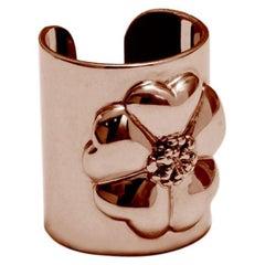 24 Karat Rose Gold Vermeil Blossom Cuff Ring