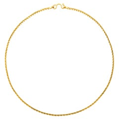 24 Karat Yellow Gold Cable Link Chain Necklace