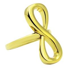 24 Karat Yellow Gold Vermeil Large Infinity Ring