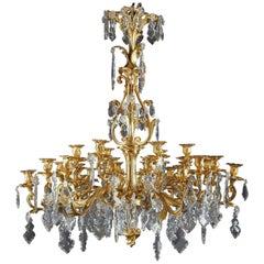 24-Light Chandelier in Louis XV Style
