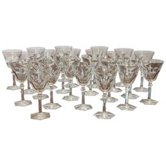 "24-Piece Set of Baccarat Crystal ""Harcourt Eve"" Stemware, NEW"