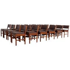 24 Vintage Danish Teak Dining Chairs MCM