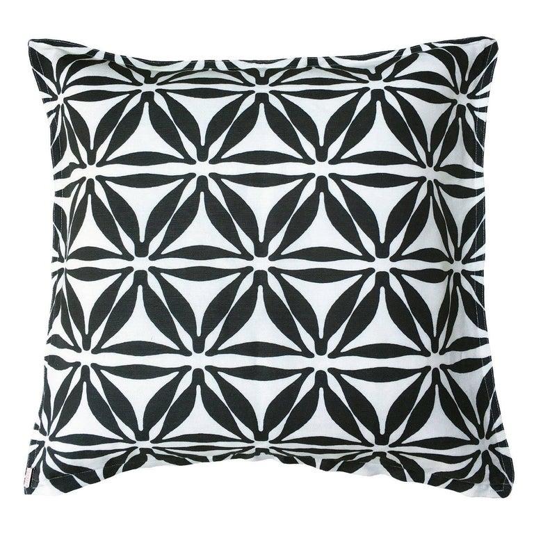 Star Noir Cotton Linen Pillow