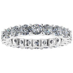 2.40 Carat Bright White Diamonds Eternity Band in Platinum 950