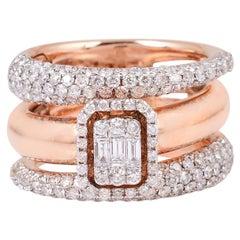 2.40 Carat Diamond 18 Karat Rose Gold Ring