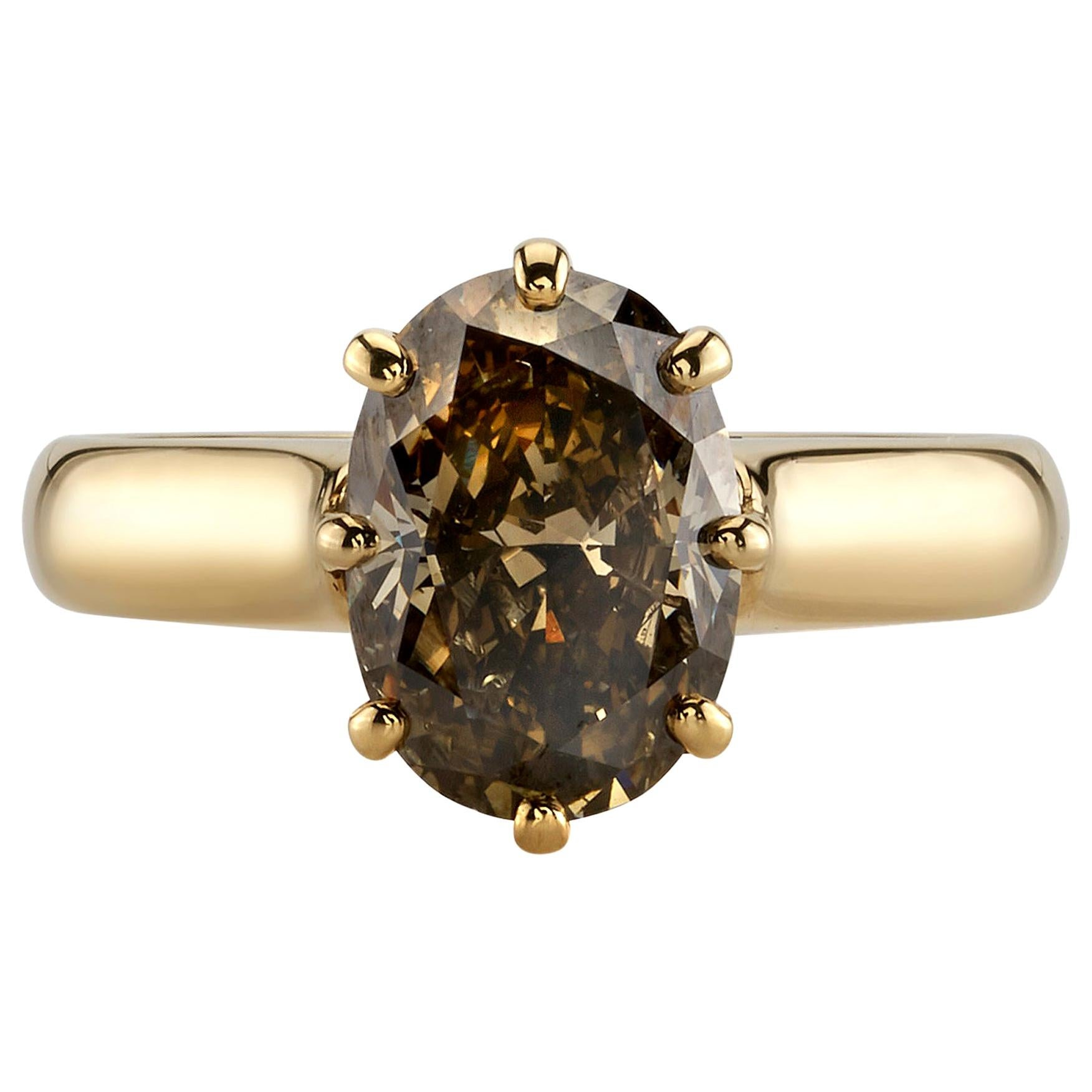 Handcrafted Gayle Oval Shaped Diamond Ring by Single Stone