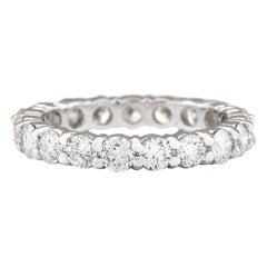 2.40 Carat Natural Diamond 18 Karat White Gold Ring