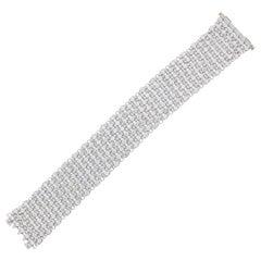 24.05 Carat Brilliant Cut Diamond Bracelet in 14k White Gold