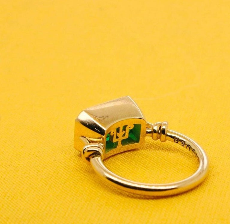 2.40ct Emerald 'Forget Me Knot' Ring in 18ct Yellow Gold For Sale 2