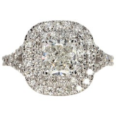 2.42 Carat Cushion Cut Diamond Engagement Ring