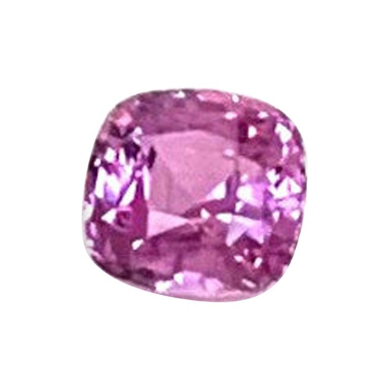 2.42 ct. Pink Sapphire Cushion GIA, Unset Loose 3-Stone Engagement Ring Gemstone