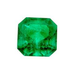 "2.42 Carat GRS Certified ""Muzo Vivid Green"" Octagon-Cut Colombian Emerald"