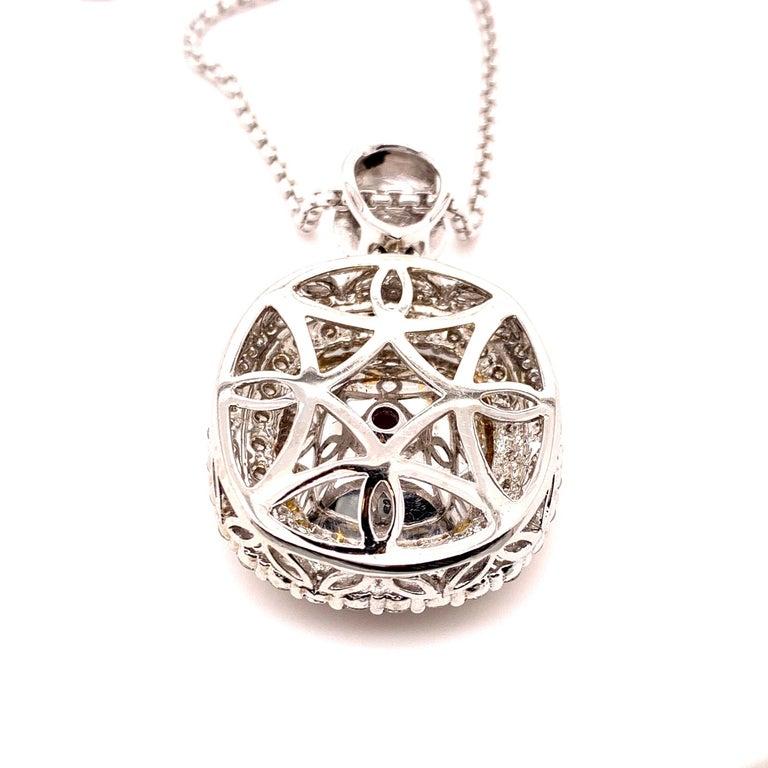 Contemporary Mozambique 24.21 Carat Ruby Diamond Pendant Necklace For Sale