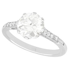 2.43 Carat Diamond and White Gold Solitaire Ring