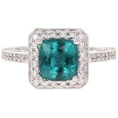 2.44 Carat Apatite Diamond Engagement Ring