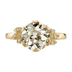 2.44 Carat GIA Certified Old European Cut Diamond Mounted in 18 Karat Gold Ring