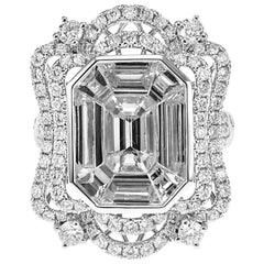 2.45 Carat Emerald Cut Solitaire Engagement Ring