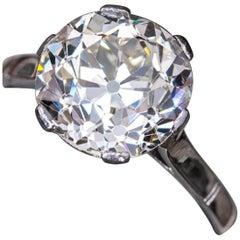 2.56 Carat Old Cut Brilliant Cut Diamond VS1 Clarity