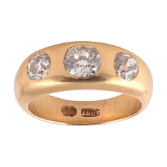 2.45 Carat Old European Cut Diamond Gypsy Ring, 1900s