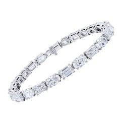 24.50 Carat Oval and Emerald Cut Diamond Bracelet
