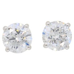 2.46 Carat Diamond Stud Earrings