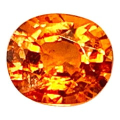 2.46 Carat Spessartite Garnet Oval Unset 3-Stone Ring, Pendant Gemstone