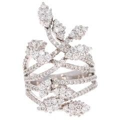 2,47 Karat Diamant Cocktail 18 Karat Weißgold Ring