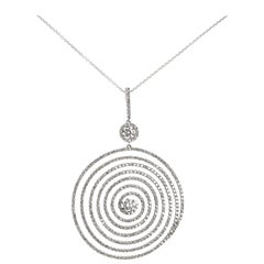 2.47 Carat Diamond Swirl Pendant with Chain