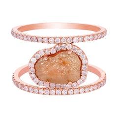 2.48 Carat Slice Diamond 18 Karat Gold Cocktail Ring