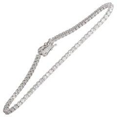 2.48 Carat White Gold Diamond Tennis Bracelet