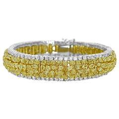 24.88 Carat Natural Yellow Diamond Bracelet