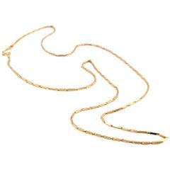24 Karat Yellow Gold Box Chain Necklace