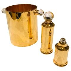 Valerio Alberello Salt & Pepper 24-Karat Gold-Plated Brass and Swarovski Crystal