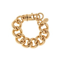 24Kt gold plated brass chain bracelet NWOT