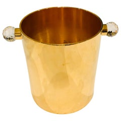 24-Karat Gold-Plated Brass Swarovski Crystal Champagne Bucket, Valerio Alberello