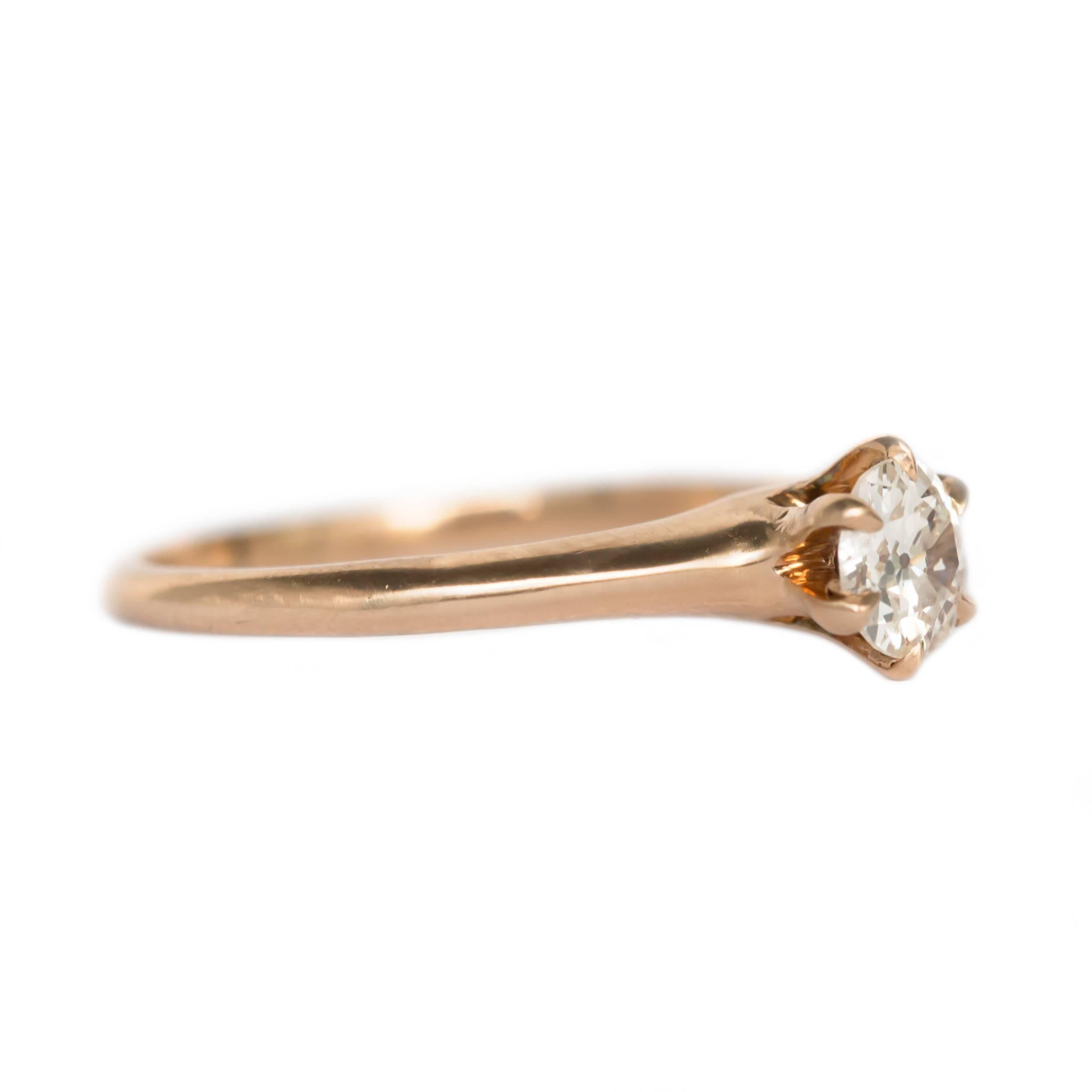 25 Carat 10 Karat Yellow Gold Engagement Ring For Sale at 1stdibs