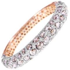 25 Carat Brown Rose Cut Diamond Multi Purpose Bracelet