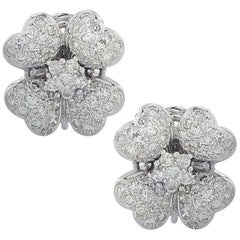2.5 Carat Diamond Flower Earrings